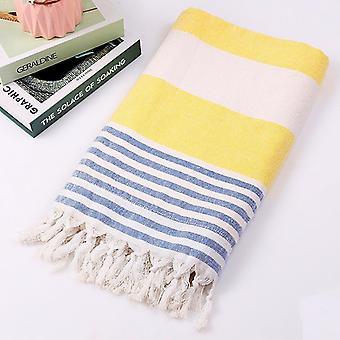 Coton grande serviette de bain turque pestemal avec glands voyage camping châle plage gym piscine couverture rideau chirurgical écharpe 100x180cm