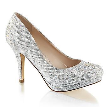 Fabulicious Frauen's Schuhe COVET-02 Slv Glitter Mesh Stoff