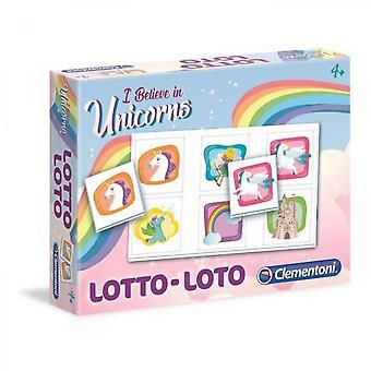 Clementoni Lotto Spil - Enhjørninger - Pædagogisk Spil