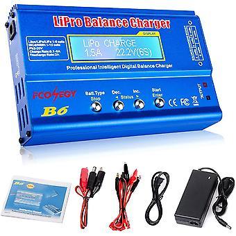 iMAX B6 Balance Ladegerät 80W 6A LCD-Balance-Ladegerät für LiPo / Li-Ion / Life Akku (1-6S) NiMH /