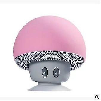 Cartoon Mushroom Head wireless Altoparlante Bluetooth Ventosa Porta telefono Portatile Outdoor