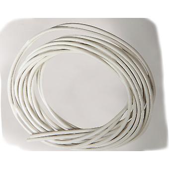 2 x 1m hvit skinnledning for voksne håndverk   Garnledning og elastisk for håndverk