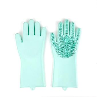 Kitchen Heat Proof Gloves Silicone Insulated Oil Proof Washing Gloves