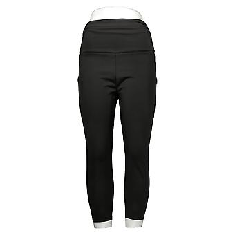 MIND BODY LOVE By Peace Love World Petite Leggings Ruched Waist Black A380144