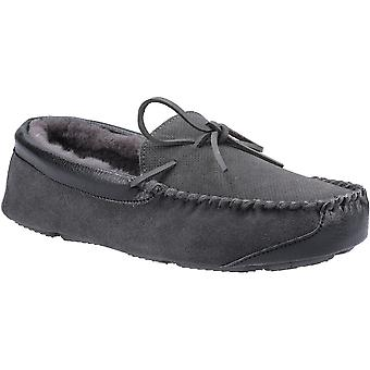 Cotswold Mens Northwood Schapenvacht Moccasin Slip On Slippers