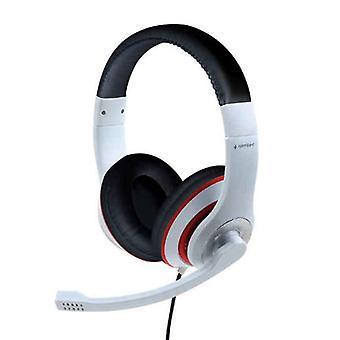 Headphones with Microphone GEMBIRD MHS-03-WTRDBK White