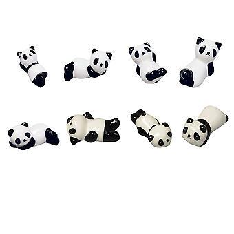 YANGFAN 8 Pcs Cute Panda Chopstick Rest Set