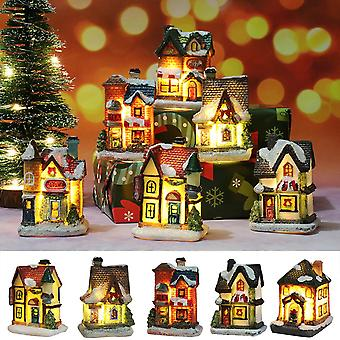 Miniature House Furniture Doll House Led House Decorate Light With Resin