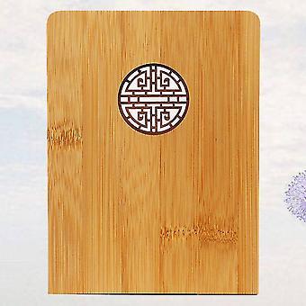 Bookends 16 x 12cm klassinen vintage bambu bookends puinen kirjalohko ontto ulos kirjan järjestäjä kirjakehys