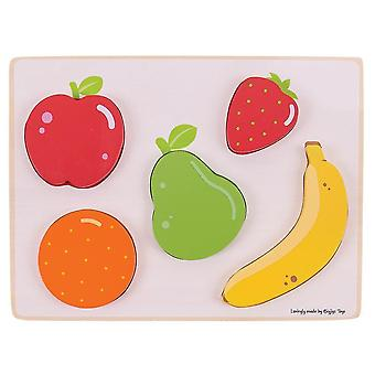 Wooden pegged puzzles wooden chunky lift and see puzzle - fruit