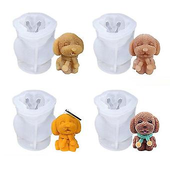 Jewelry holders silicone ice cube maker 3d dog shape silicone chocolate mold - medium