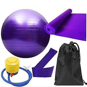 5st/set träning fitness yoga boll elastiskt band (Lila)