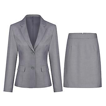 Mile Women's Two-piece Solid Color Suit Casual Slim Suit (top & Skirt) 5 Colors