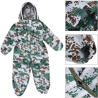 Védőruházat, légáteresztő pamut ruházat védősapkával, hűvös és kényelmes (álcázás) Xl