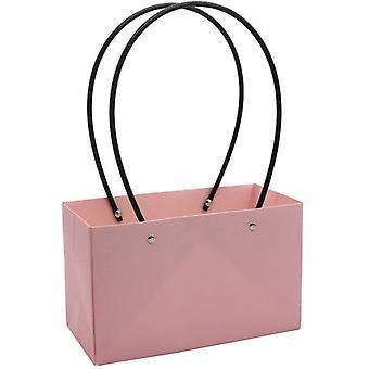 Fower Box Bag Paksuunna Kukkakauppias Kätevä KukkaPussit Kraft Paperi 5kpl Vaaleanpunainen