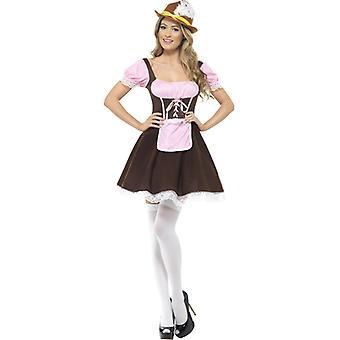 Oktoberfest Tracht Dirndl Kısa Taverna Kız Kostüm Bayanlar