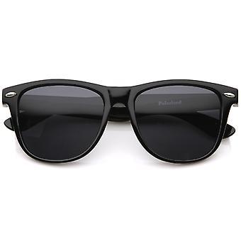 Grote Oversize klassieke donker getinte Lens hoorn omrande zonnebril 55mm