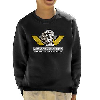 Weyland Yutani Corp Building Better Worlds Alien Kid's Sweatshirt
