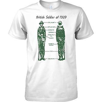 Brittisk soldat av 1939 - Kit-Diagram - barn T Shirt