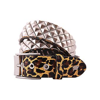 Lowlife Armor Leather Belt in Leopard