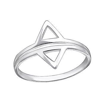 Geometrische - 925 Sterling Zilver platte ringen - W34912X