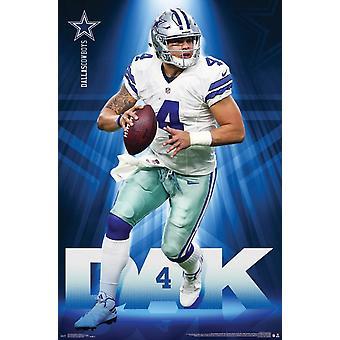 Cowboys de Dallas - Dak Prescott Poster Print