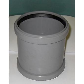 Tuyau de chute droite coupleur 110 mm Inlet - Push Fit - Grey - déchets