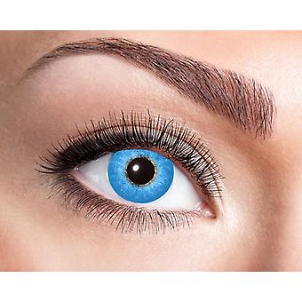 Natural contact lens light blue patterned