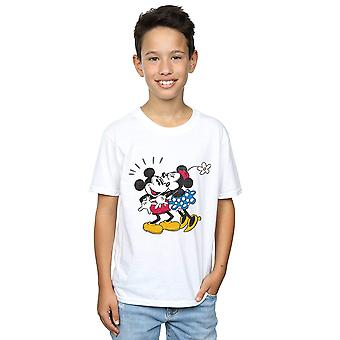 Disney garçons Mickey Mouse Mickey et Minnie Kiss T-Shirt