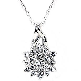 1/3ct Promise Diamond Pendant 14K White Gold