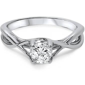 1 / 2ct Diamond Infinity Solitaire verlovingsring 14K White Gold