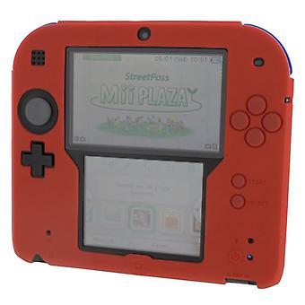 ZedLabz siliconen beschermhoes voor Nintendo 2DS - rood