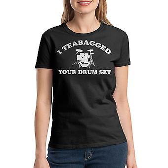 Step Brothers Cooper Teabag Women's Black T-shirt