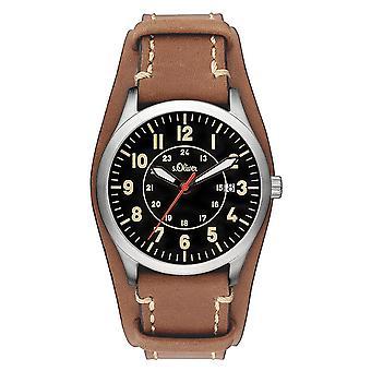 watch reloj de pulsera cuero Oliver s. hombres SO-3147-LC