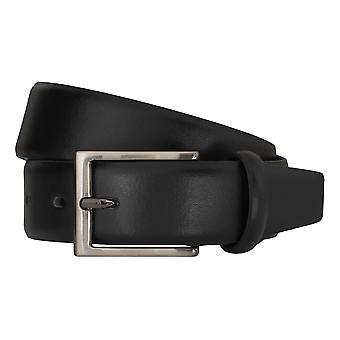 Bugatti belts men's belts leather belt black 5150