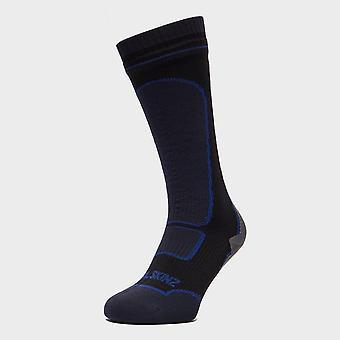 New Sealskinz Men's Mid-Weight Knee-Length Socks Black