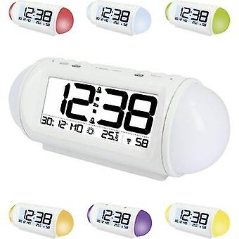 Techno Line WT 499 Radio Wecker weiß Alarm 2 mal