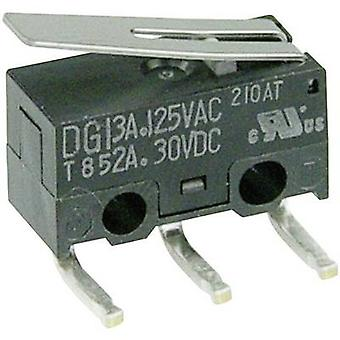 ZF Microswitch DG13-B2LA 125 V AC 3 A 1 x On/(On) momentary 1 pc(s)