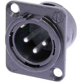 Neutrik NC3MDL1BAG XLR-kontakten hylsan plugg, rak stift antal stift: 3 svart 1 dator