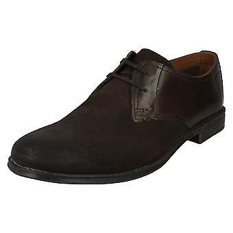Herren Clarks elegante Schuhe Hawkley Spaziergang