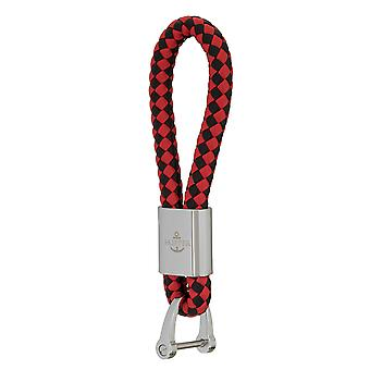 Schipper sleutel Hangers leder zwart/rood 7290