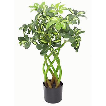 Arbusto de tallo torcido Artificial Arboricola moderna planta Artificial Bonsai de 70cm