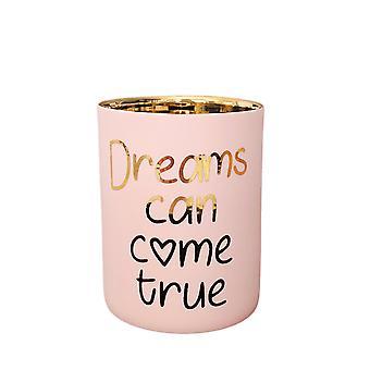 Licht leuchten Teelicht Votive Halter, können Träume wahr werden.