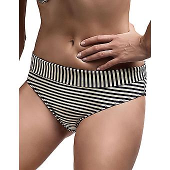 Marlies Dekkers 18194 Women's Holi Vintage Blue Ecru Striped Swimwear Beachwear Bikini Bottom