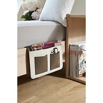 Cama de sofá de Butler de Butler Butler de sofá sofá marrón/off-blanco apoyabrazos organizador sofá bandeja