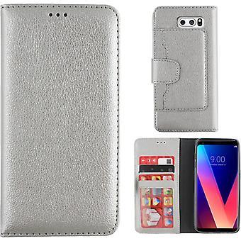 Colorfone Wallet LG V30 Plånboksfodral SILVER