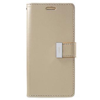 Mercury GOOSPERY Rich Diary till Samsung Galaxy S9 - Guld