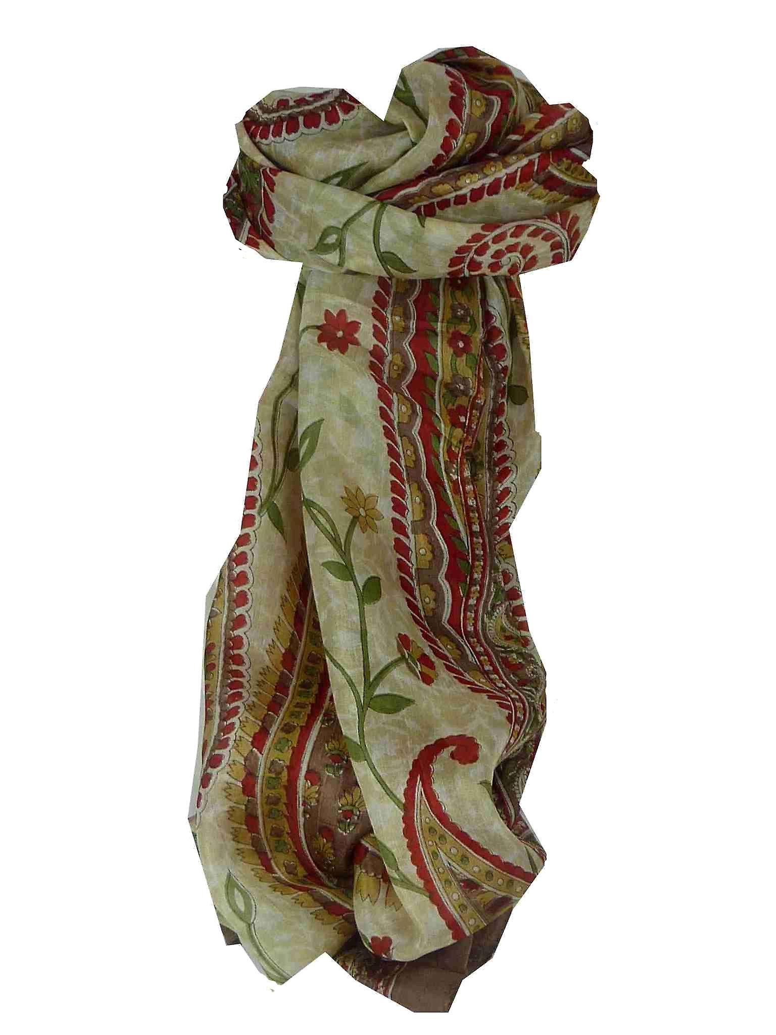 Mulberry Silk Traditional Long Scarf Sonja Caramel by Pashmina & Silk