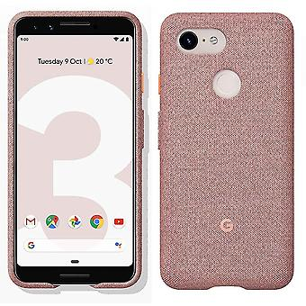 New Genuine Official Google Pixel 3 Fabric Case Cover GA00492 - Pink Moon