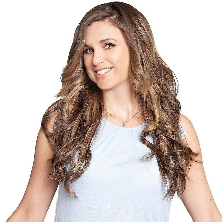 #4/18 Balayage Bronde - Extensions à clips cheveux - tête complète - Deluxe